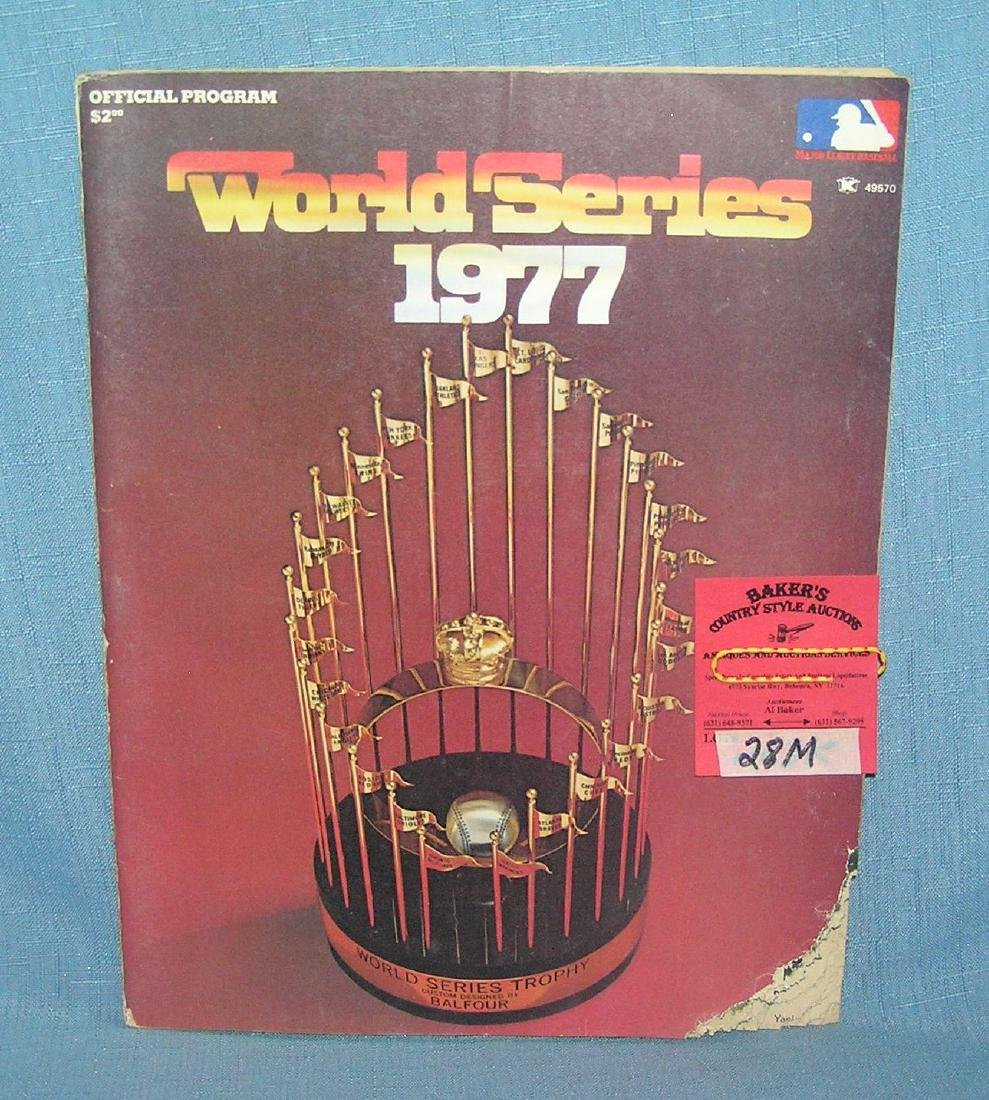 World Series 1977 official program