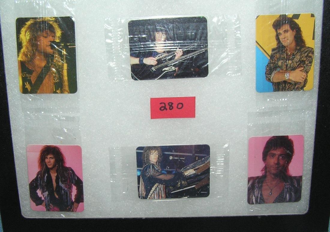 Group of 6 Bon Jovi rock band mini cards