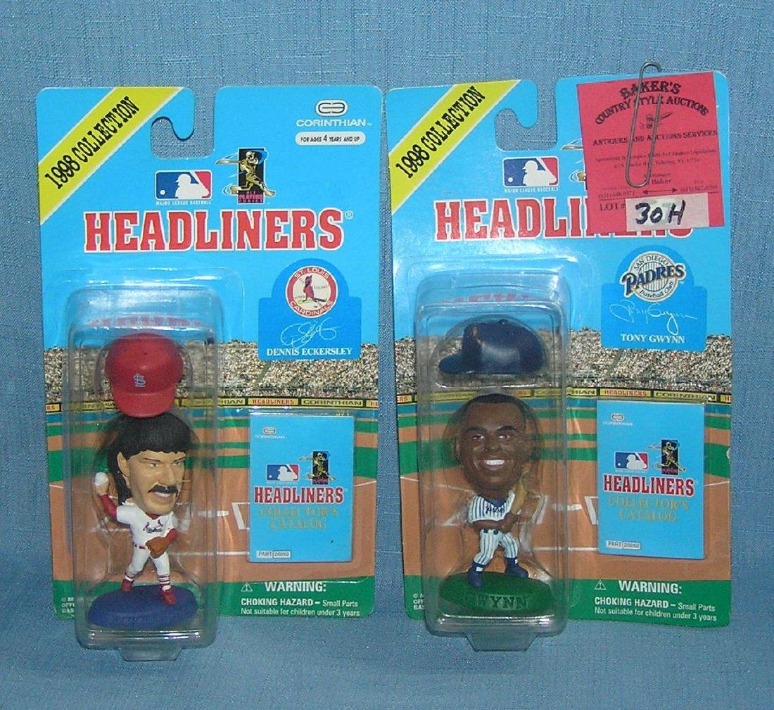 Pair of Headliners baseball figures