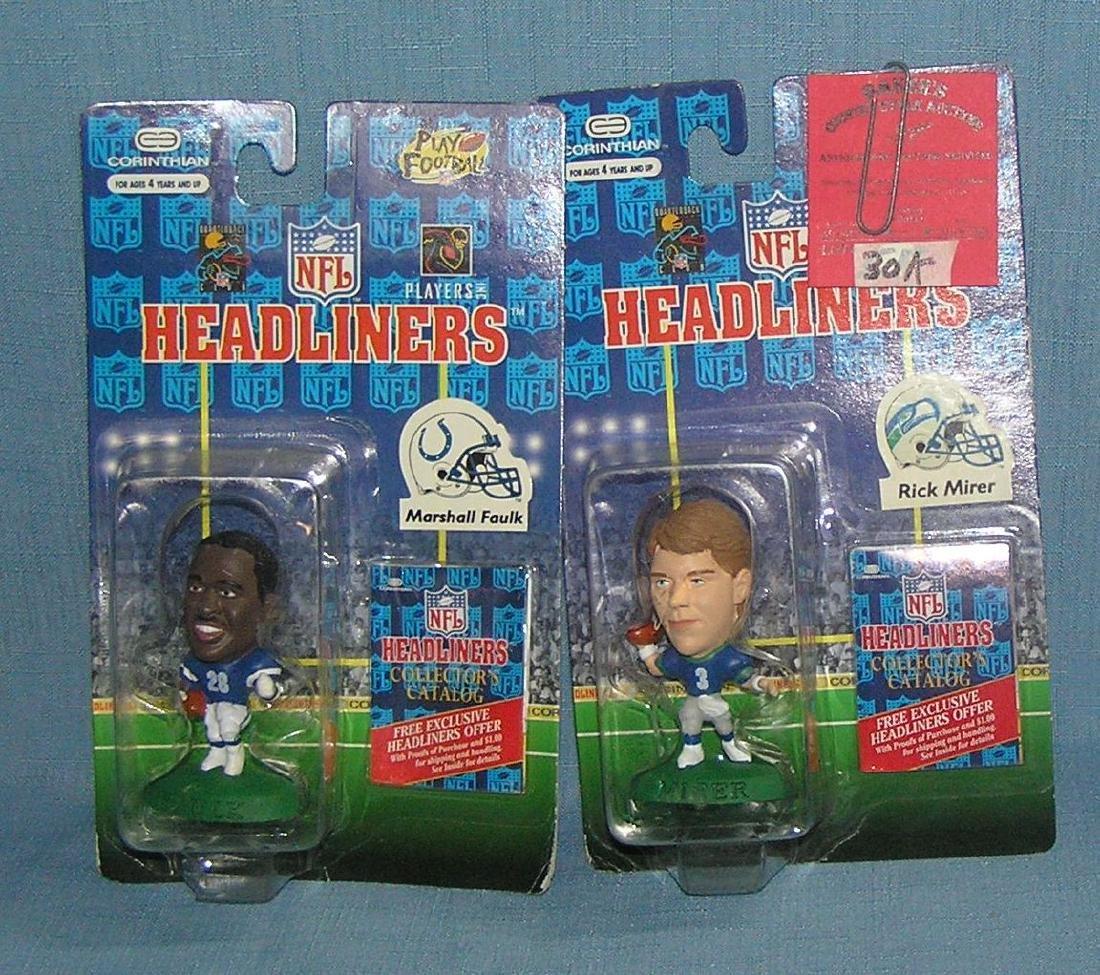 Pair of football Headliners figures