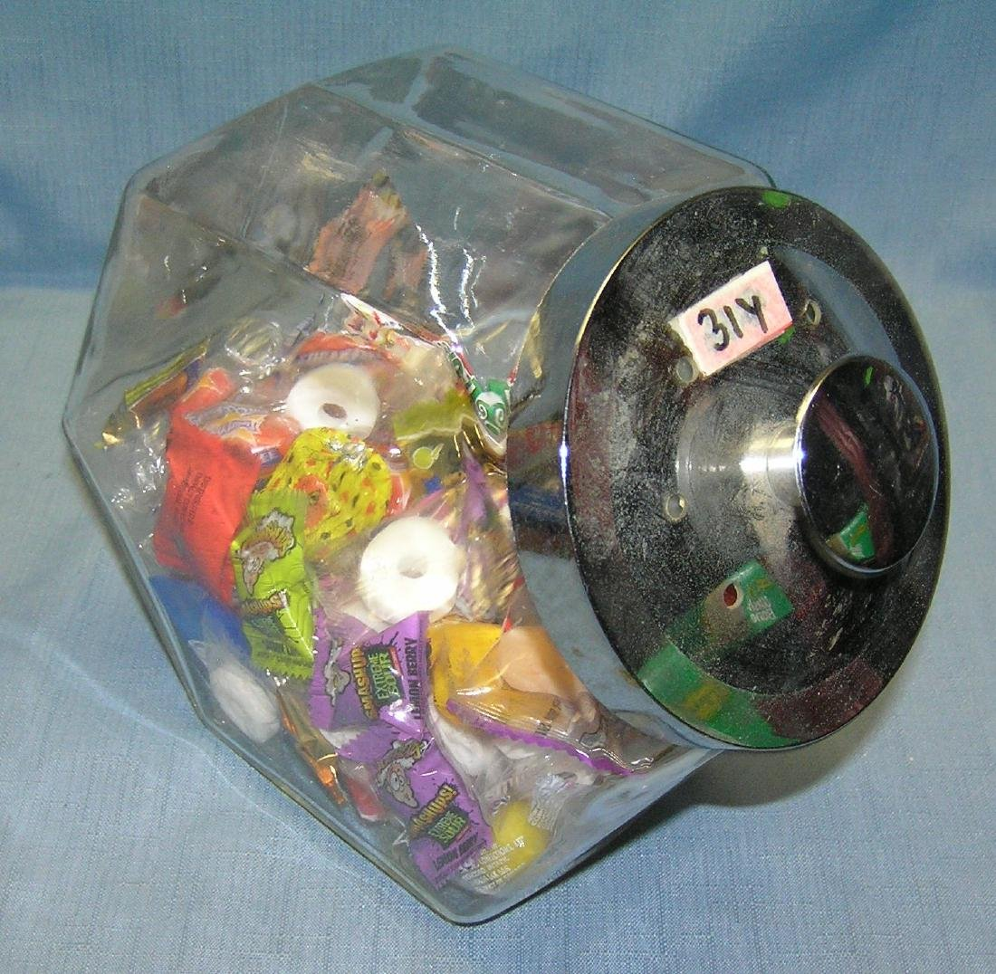 Vintage all glass country store style candy jar