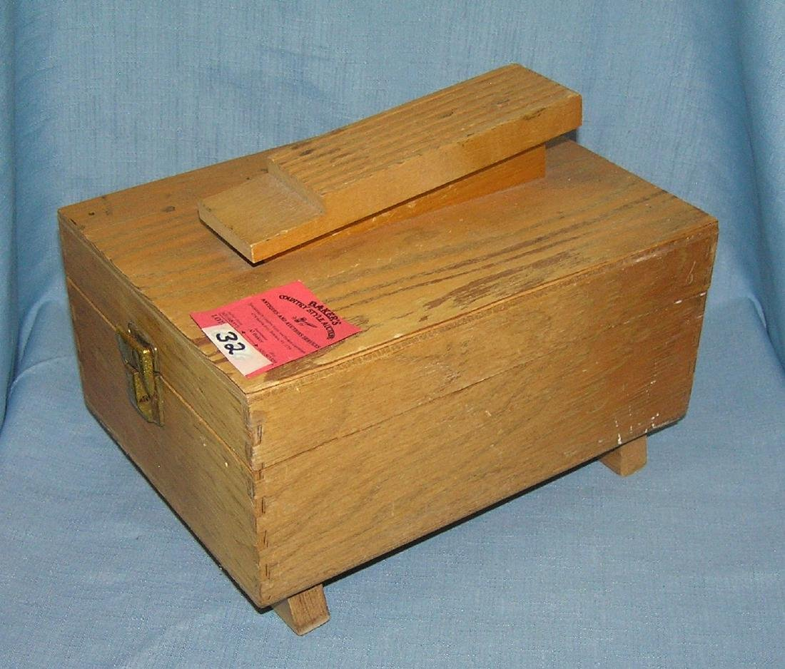 Vintage maple shoe shine box