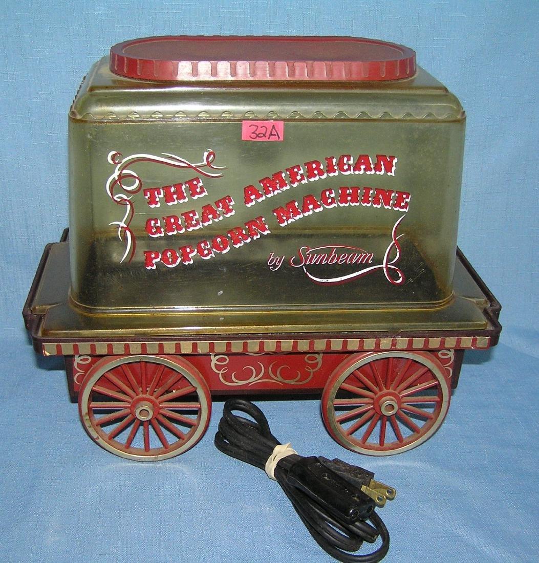 Popcorn cart by Sunbeam
