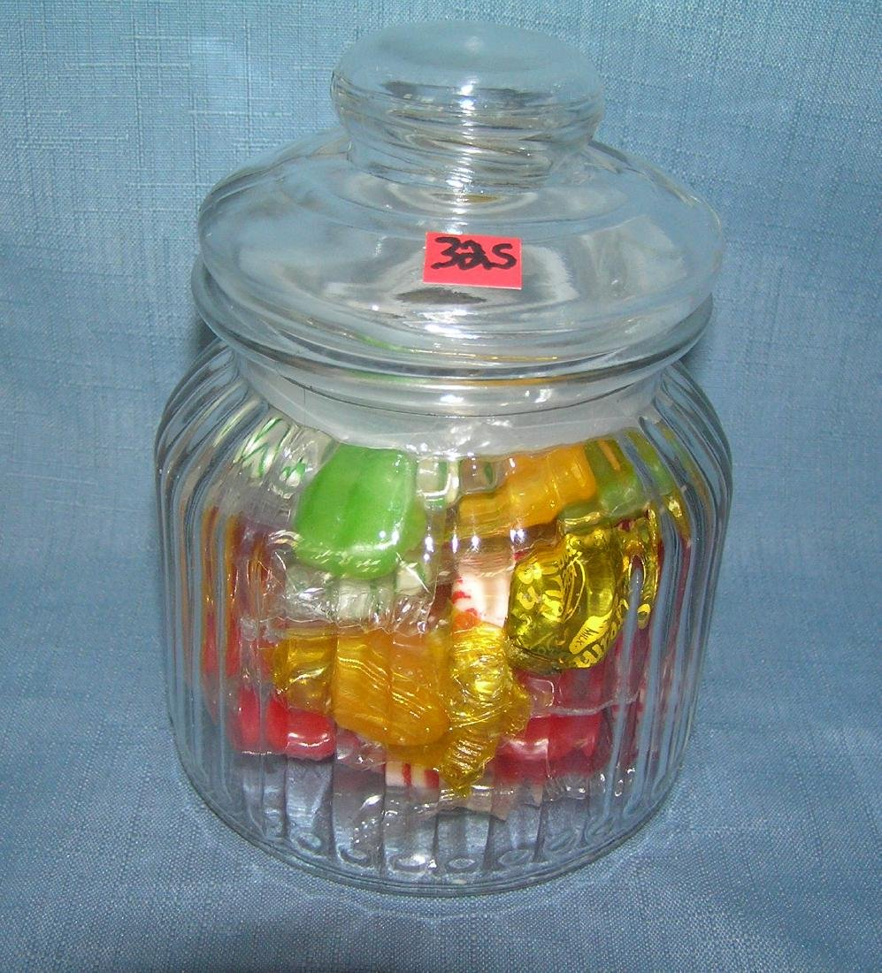 All glass country store style candy container