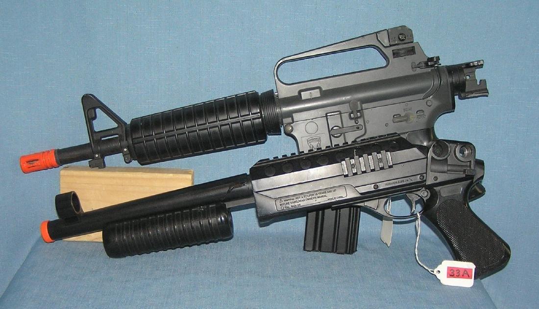 Pair of Airsoft BB rifles