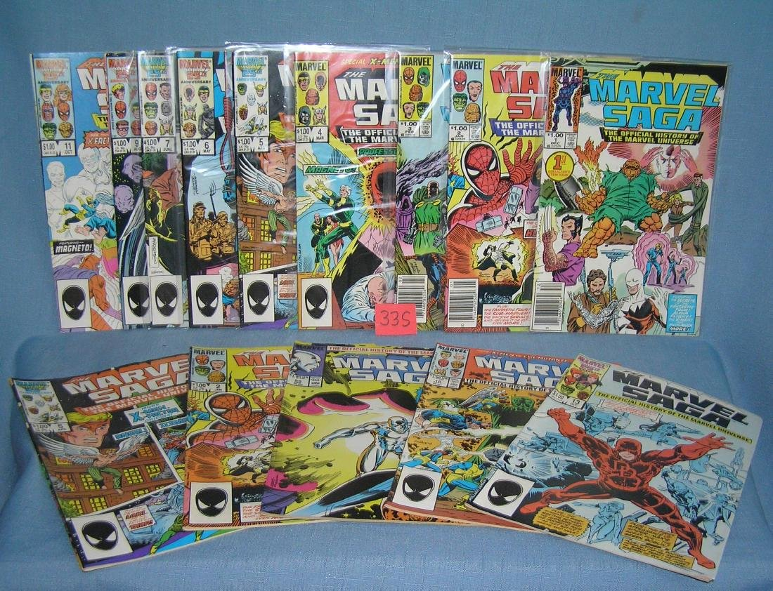 Group of vintage Marvel comics featuring the Marvel