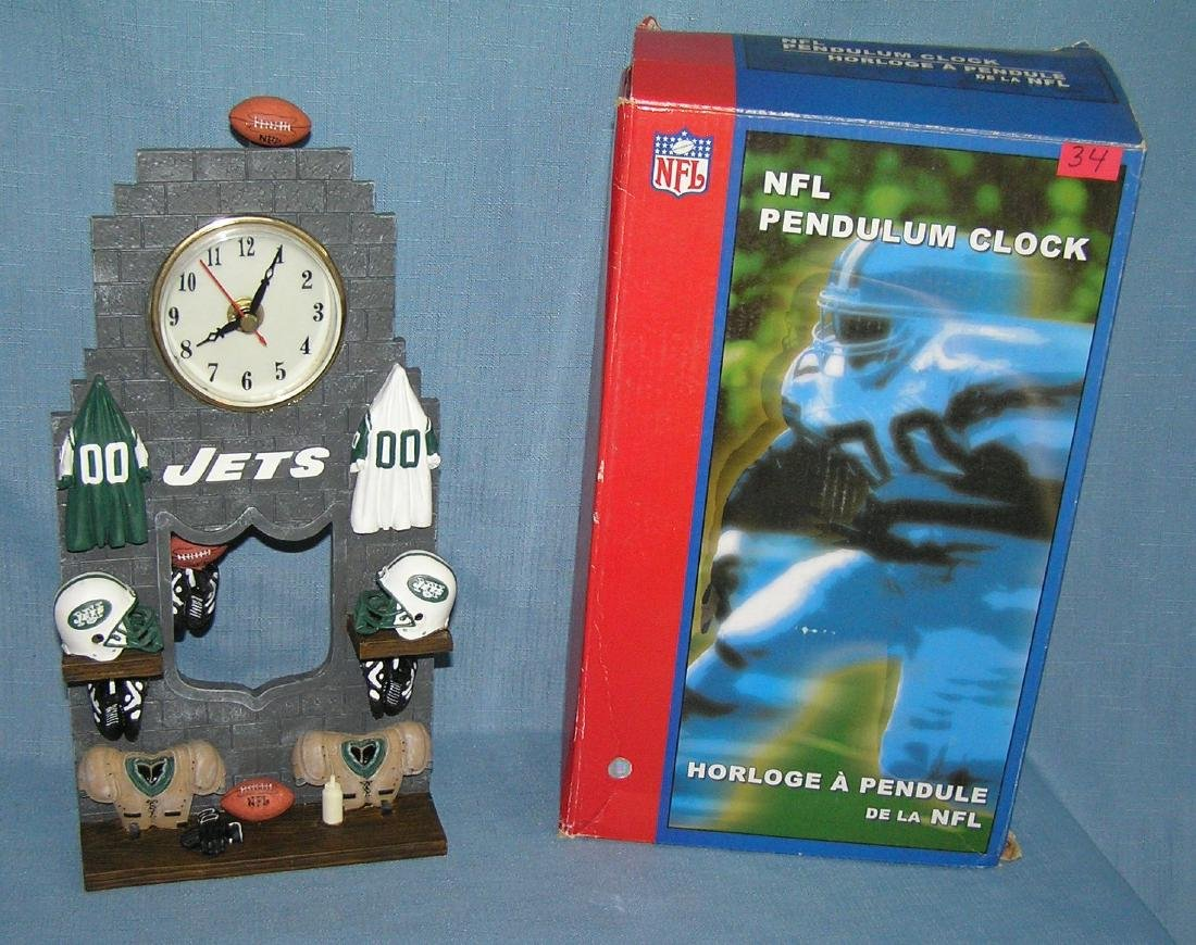 NFL football pendulum clock