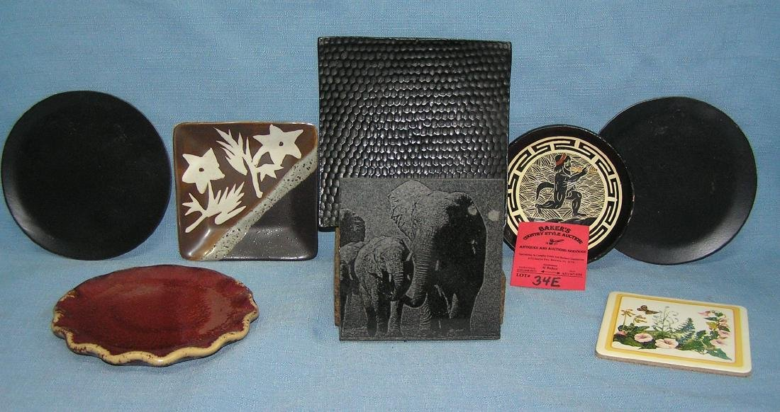Collection of estate coasters