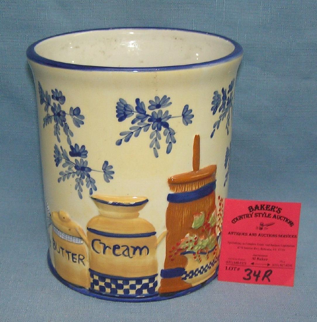 Glazed porcelain country kitchen spoon or utensil