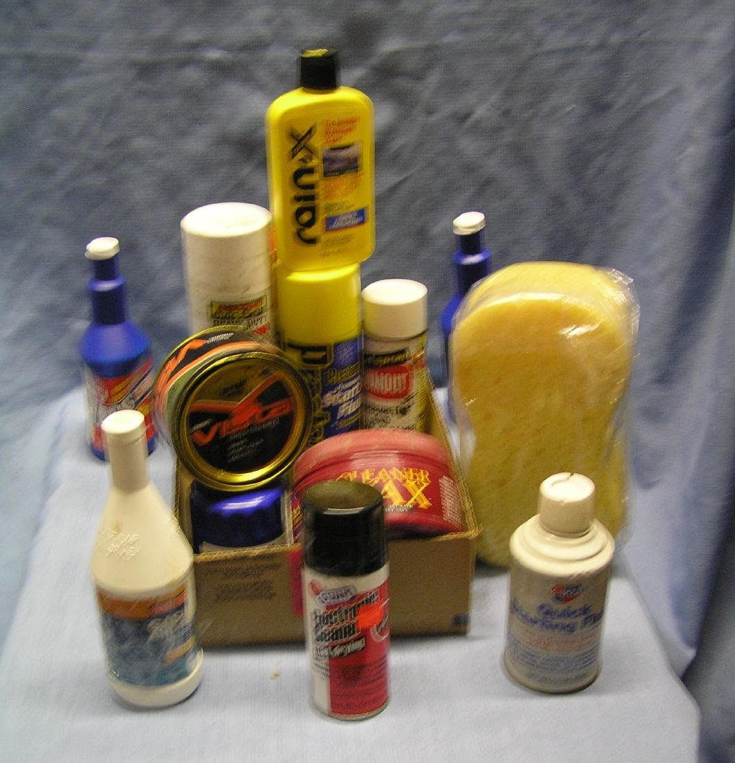 Box of automotive care products