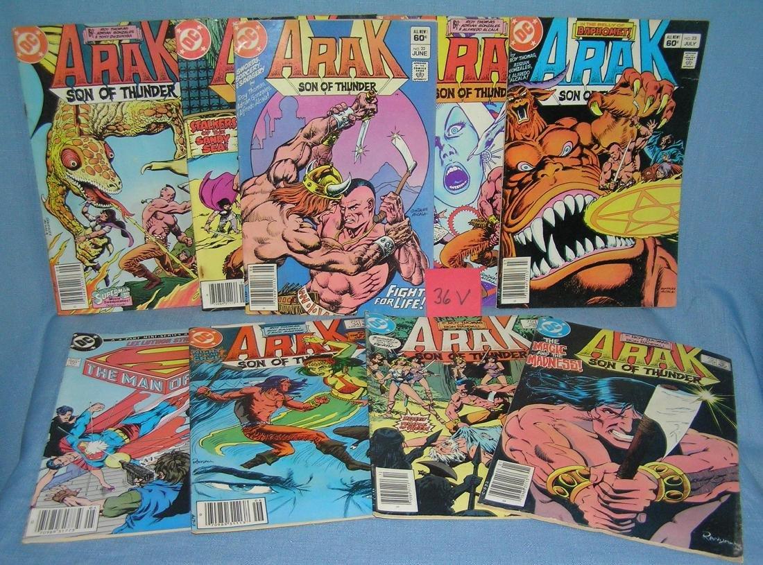 Group of vintage Arak son of thunder comic books