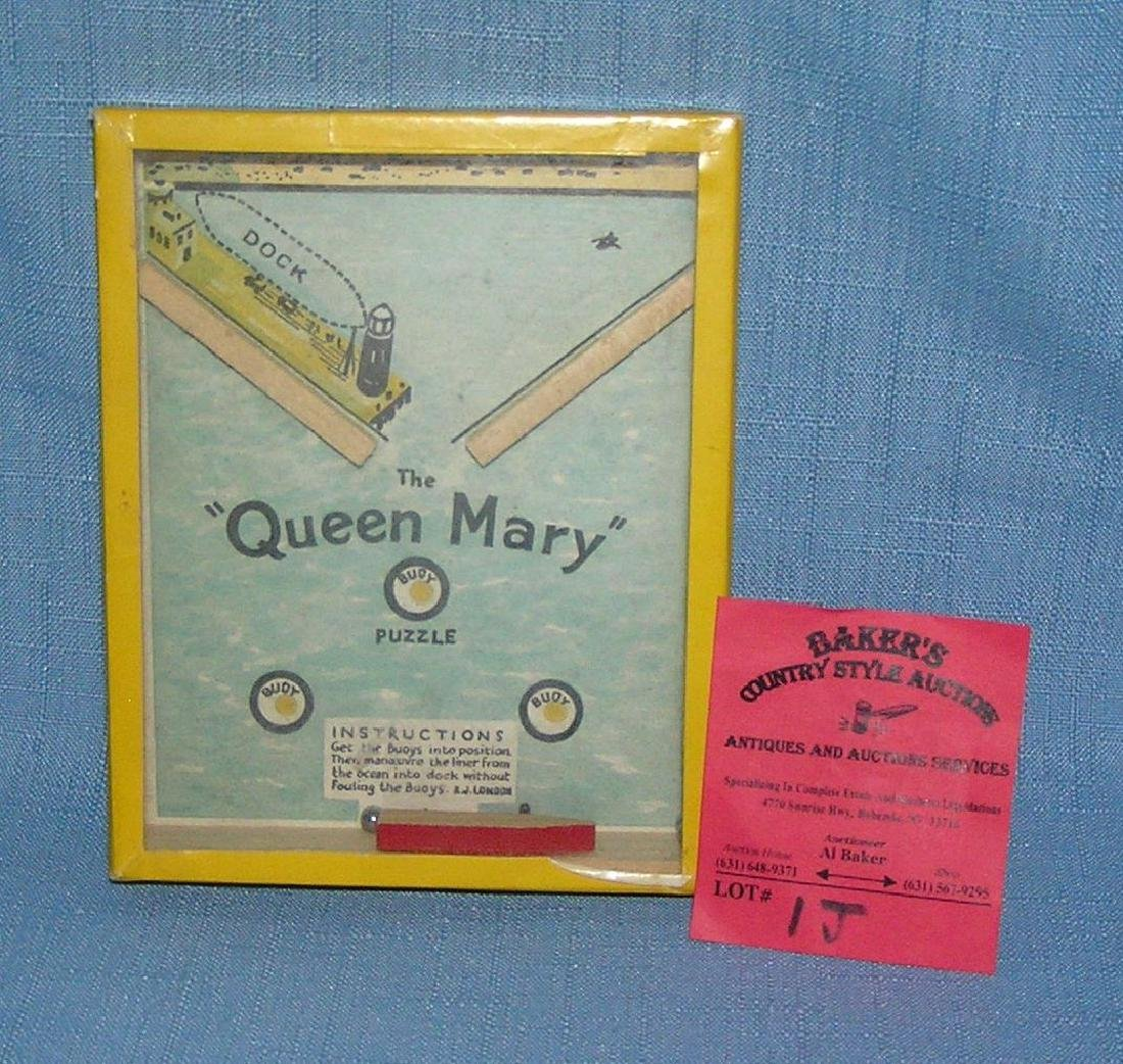 Queen Mary puzzle dexterity toy circa 1940's