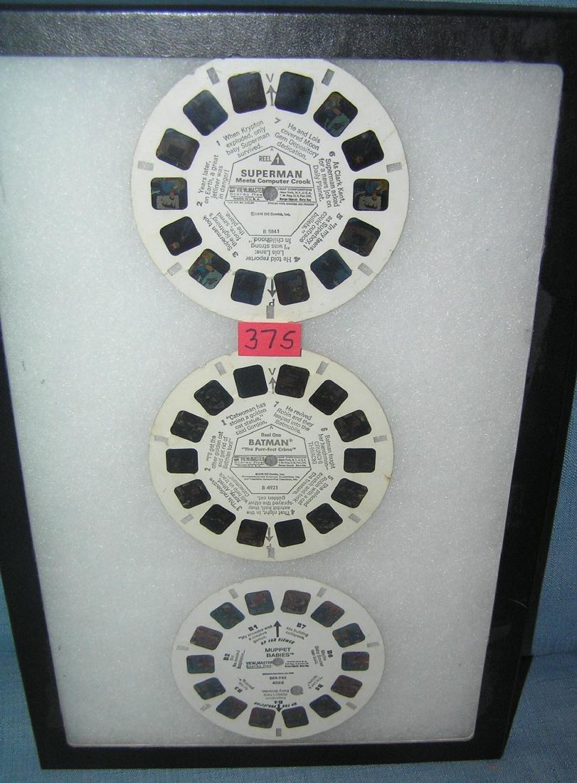 Group of vintage View Master reels