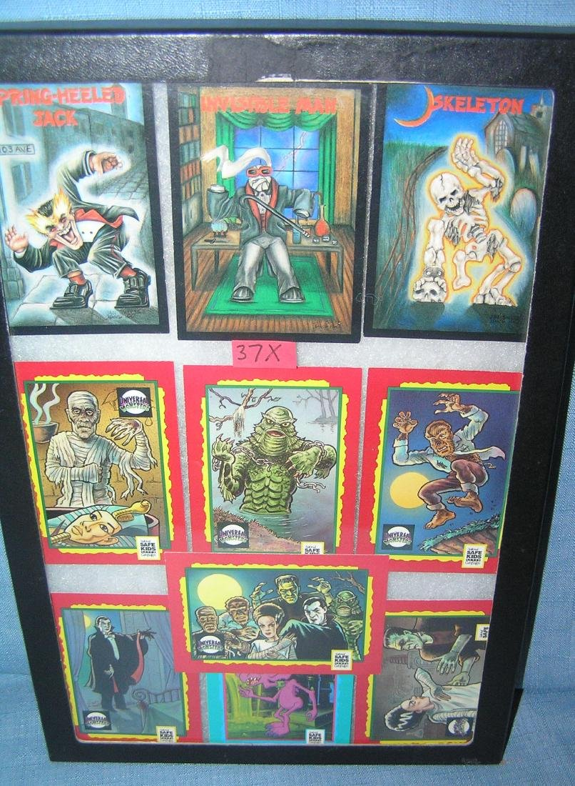 Group of vintage monster and horror cards