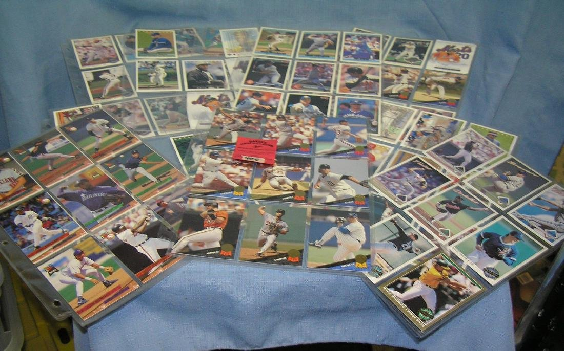 Group of vintage baseball cards