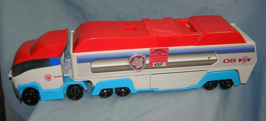 Large battery operated toy truck toy carrying case
