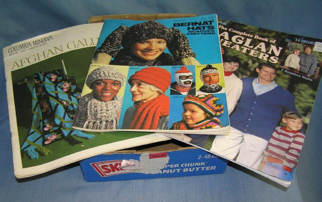 Group of 3 vintage crochet and knitting catalogs