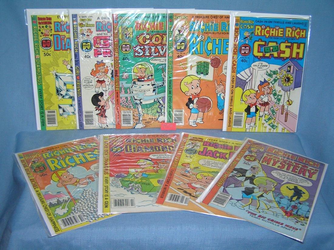 Group of vintage Richie Rich comic books