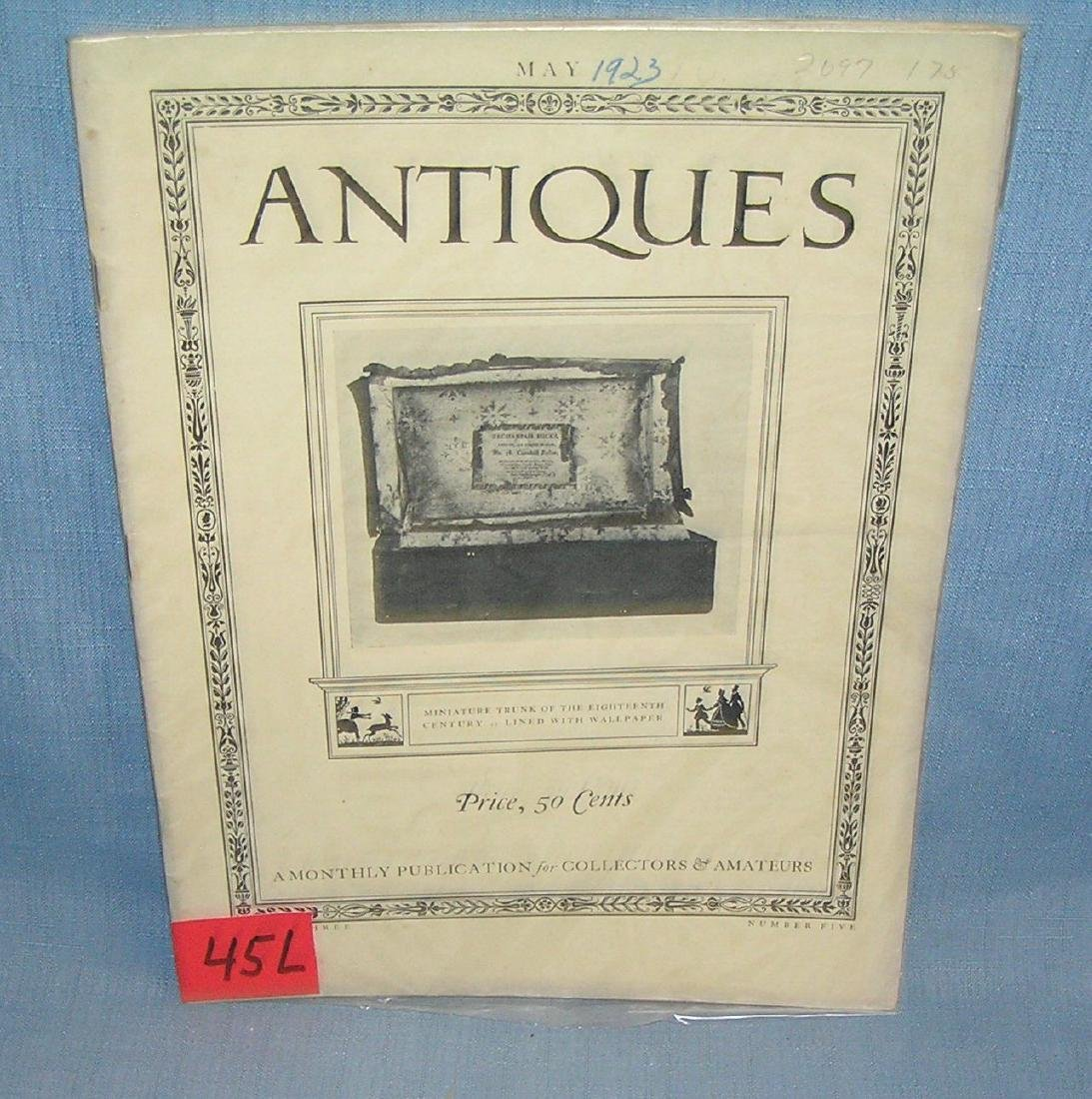 Antique Magazine May 1923