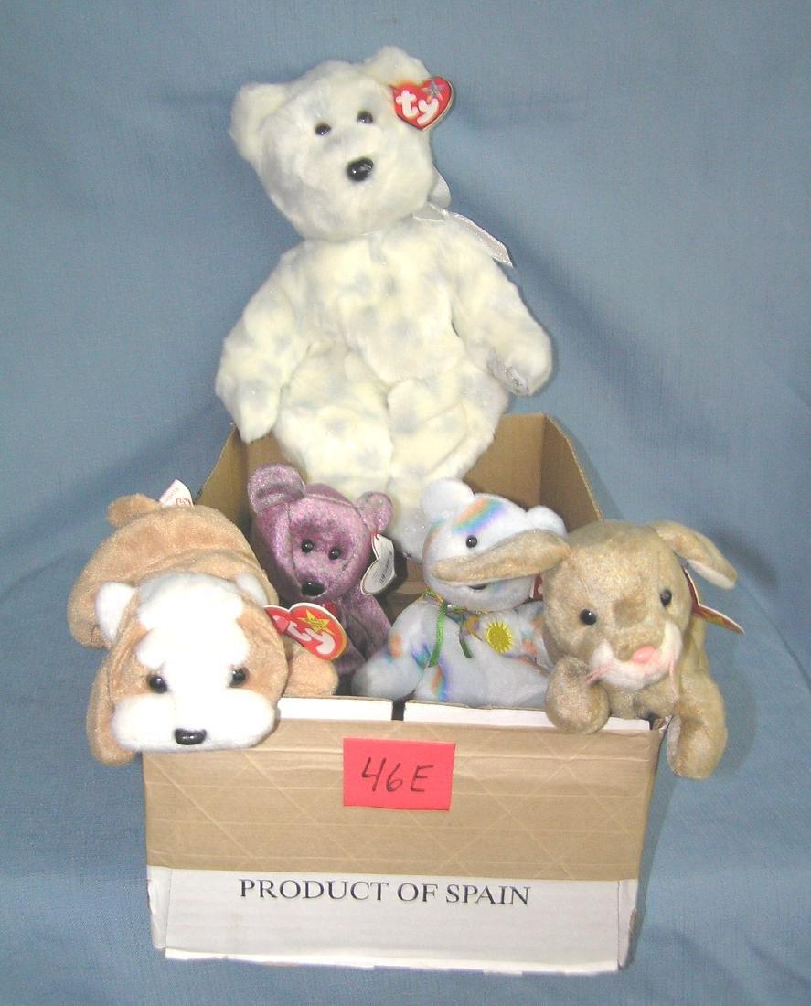 Box of vintage Beanie Babies