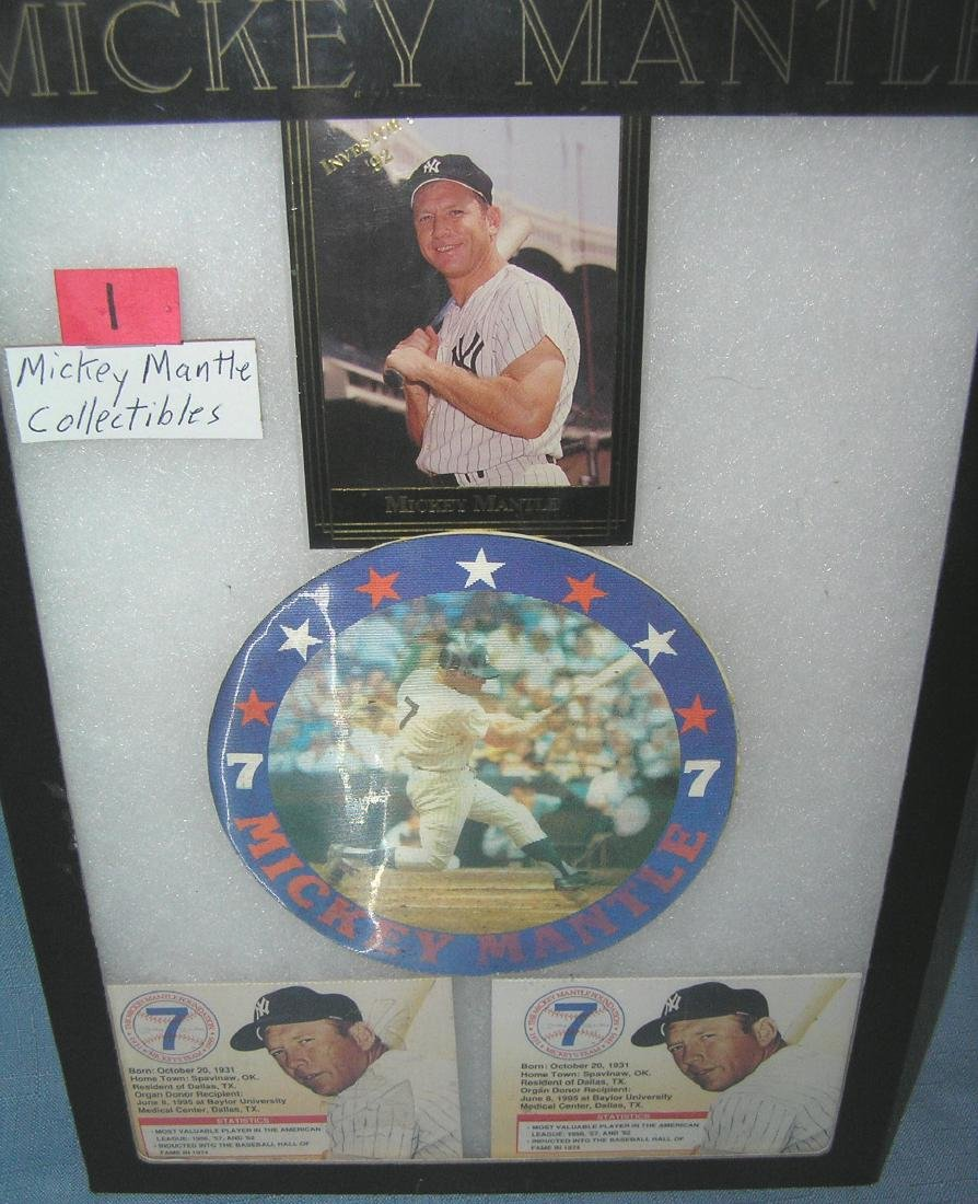 Group of Mickey Mantle collectibles