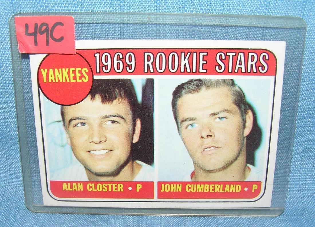 1969 Topps NY Yankees rookie stars