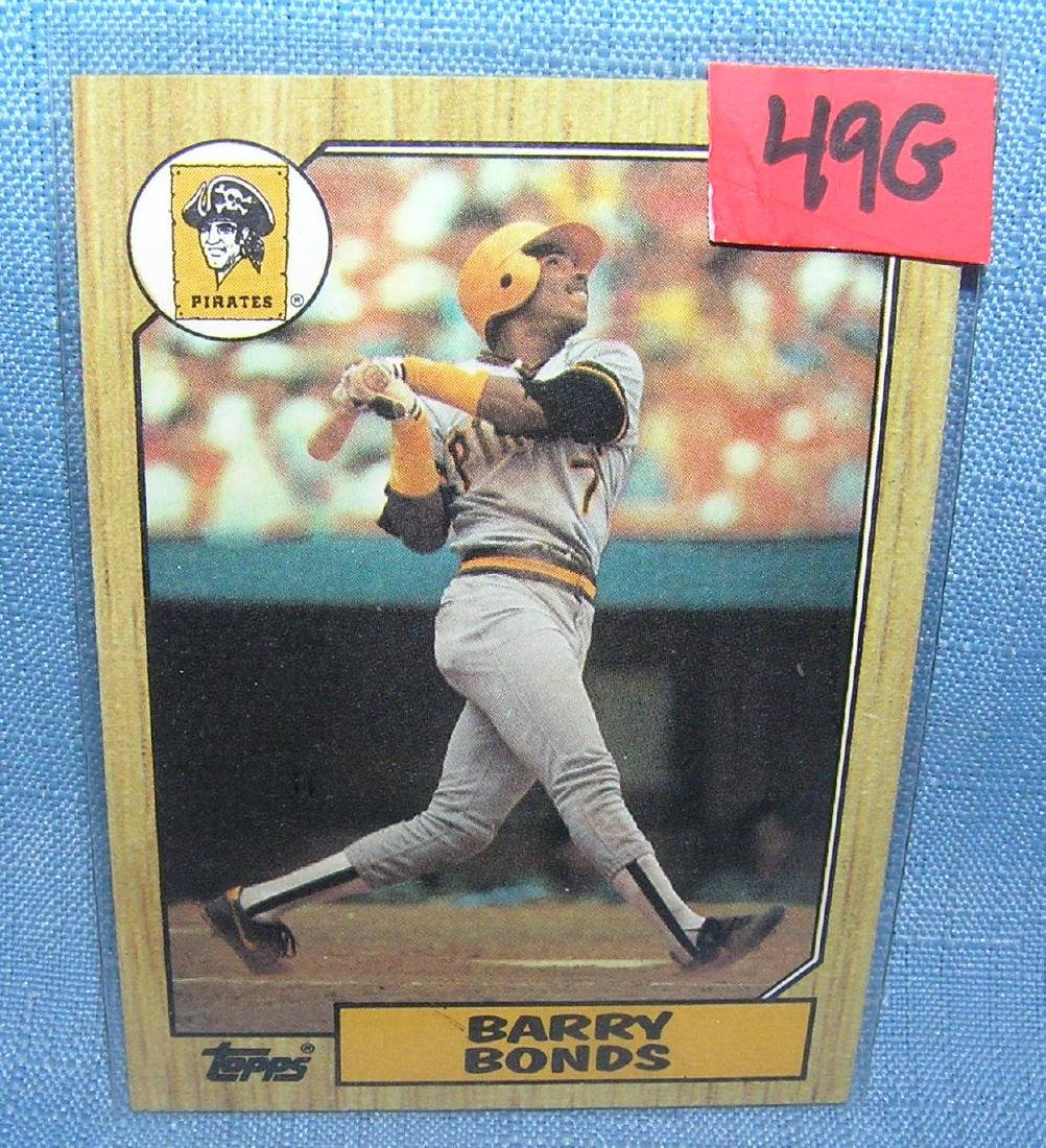 Barry Bonds rookie Baseball card