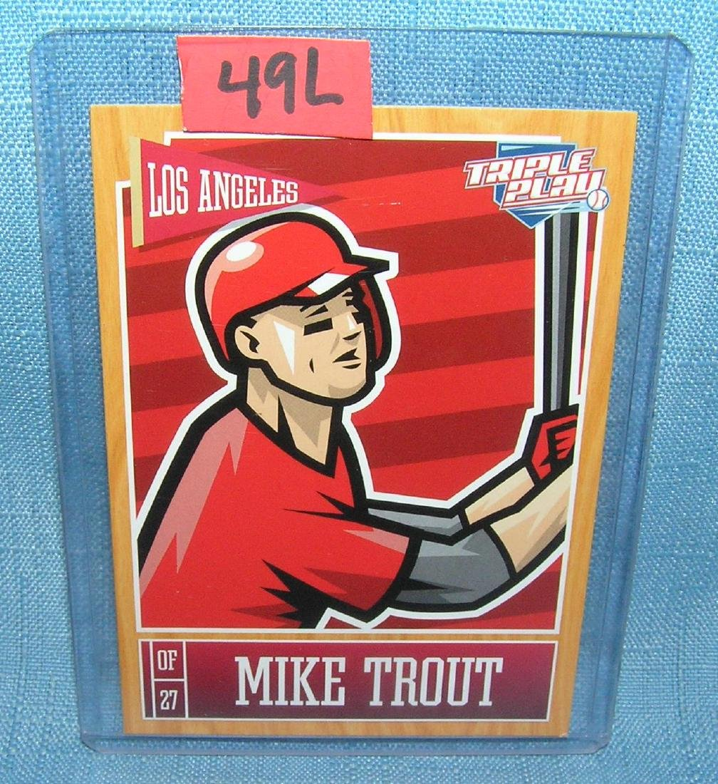 Mike Trout rookie Baseball card