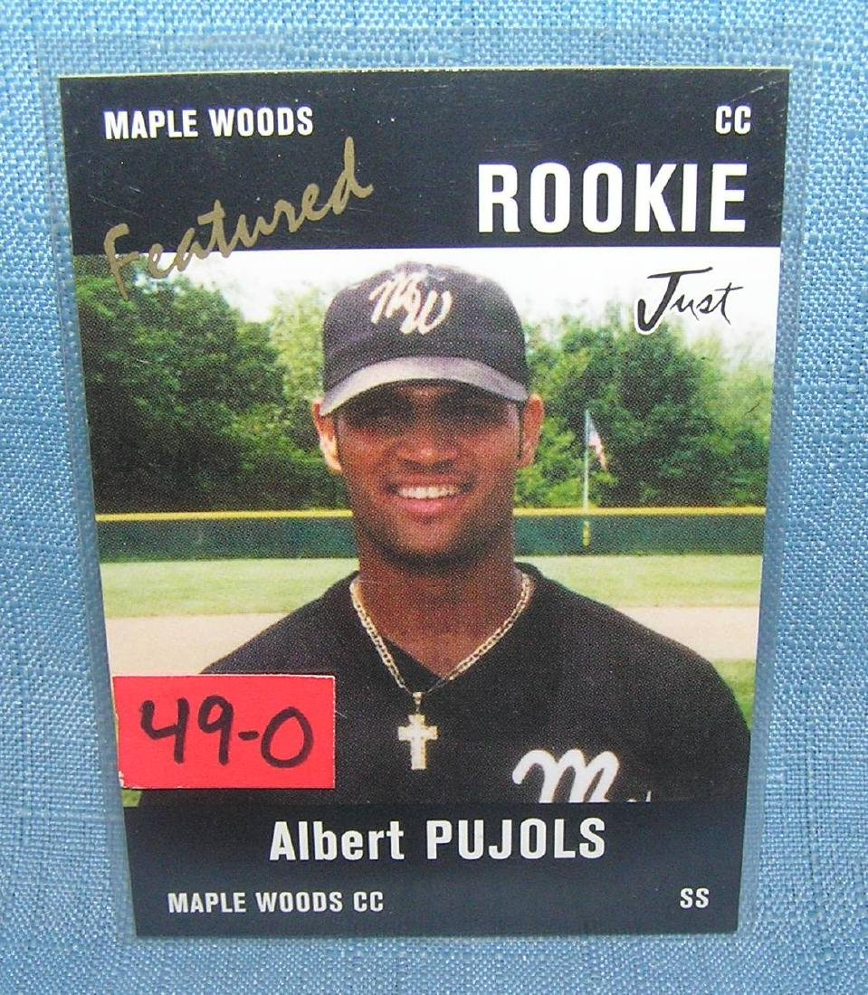 Albert Pujols rookie Baseball card