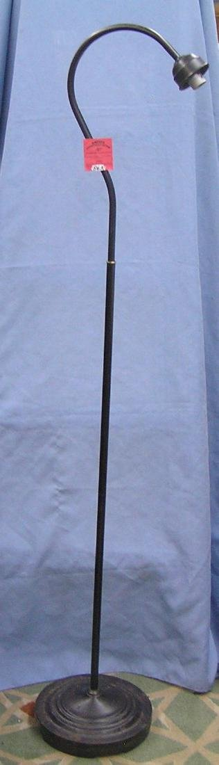 Modern black gooseneck shaped floor lamp