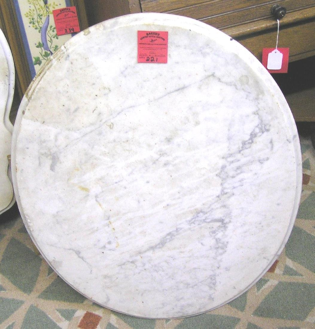 Antique marble table top