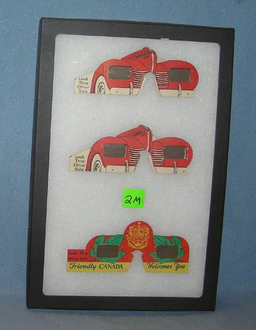 3 early auto & travel related diecut 3D glasses