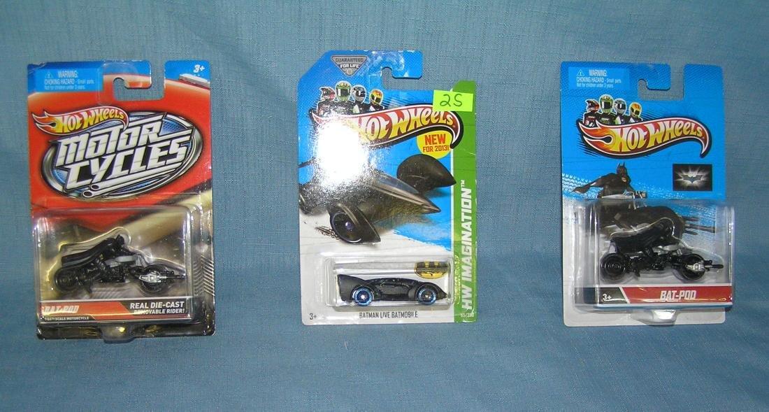 Group of vintage Hot Wheels Batman vehicles