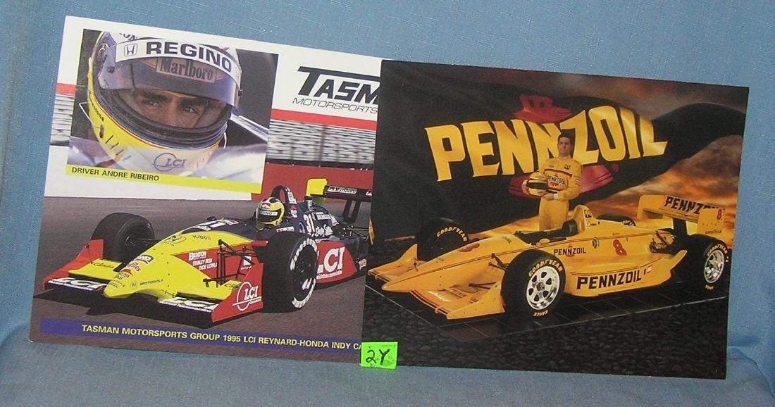 Pair of vintage NASCAR photos