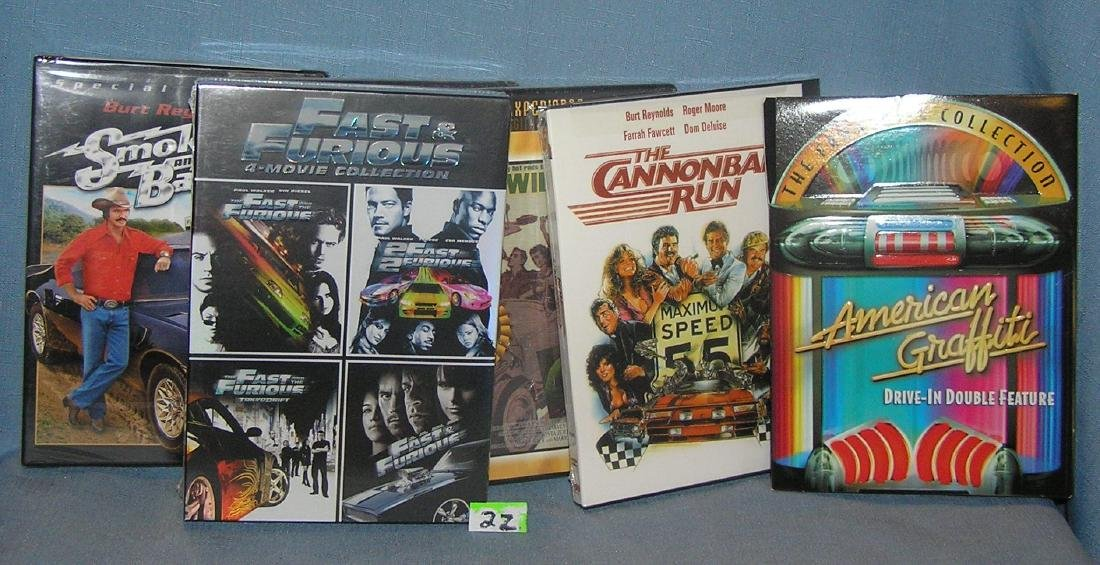 Group of 9 new automotive themed DVD movies
