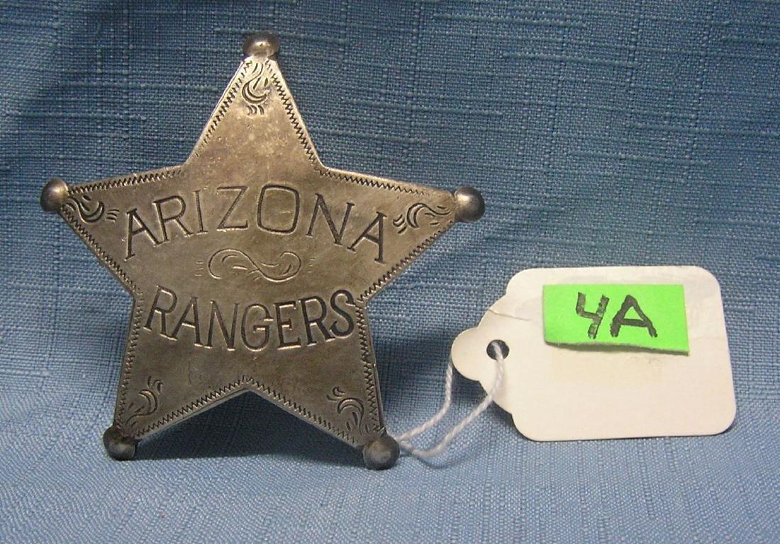 Early Arizona Ranger's 5 star shield