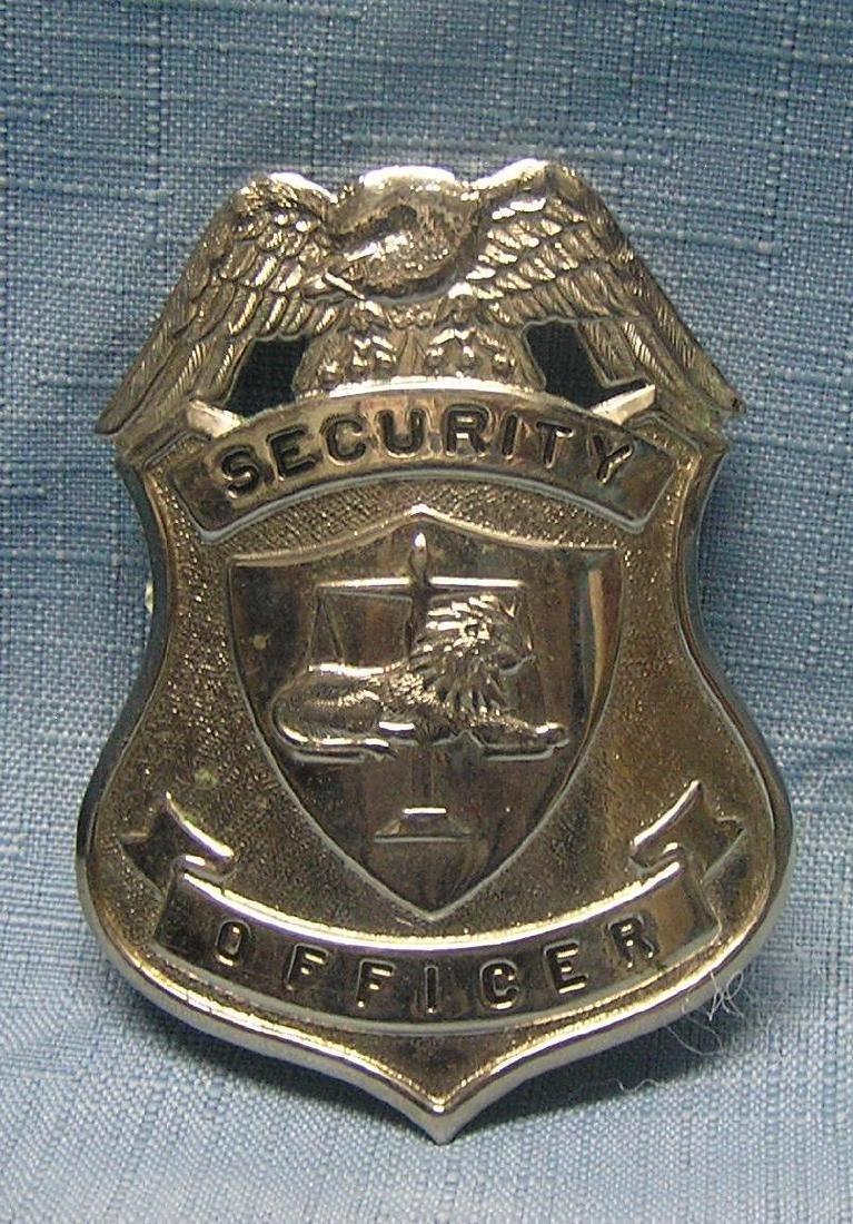 Vintage security officer's badge