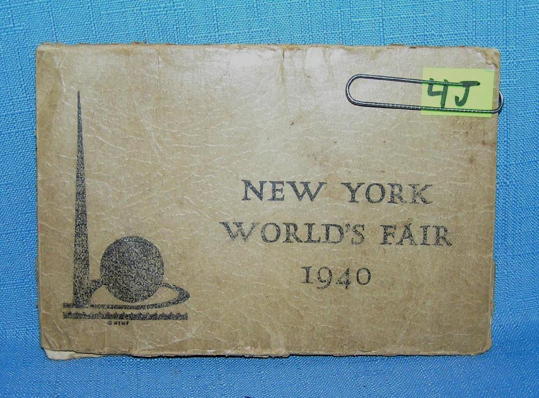 NY World's Fair 1939-1940 foldable book cover