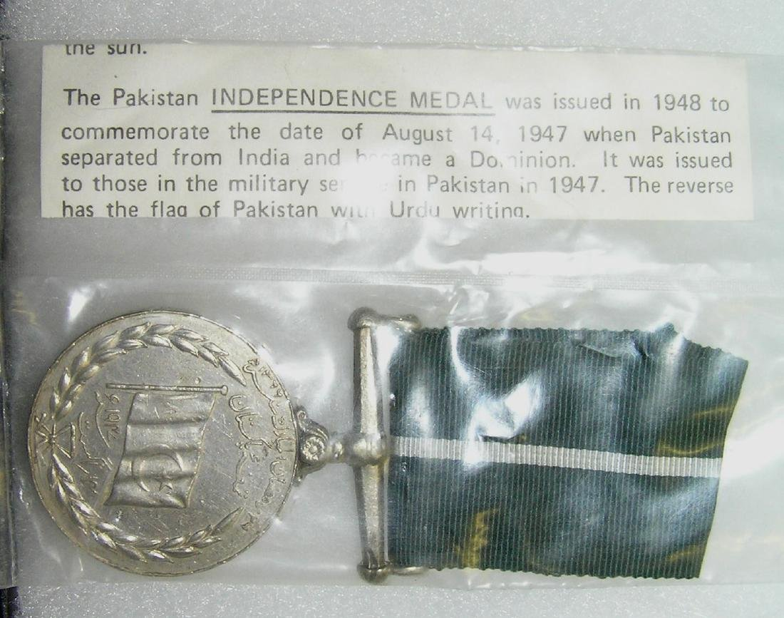 Pakistan Independence medal and ribbon