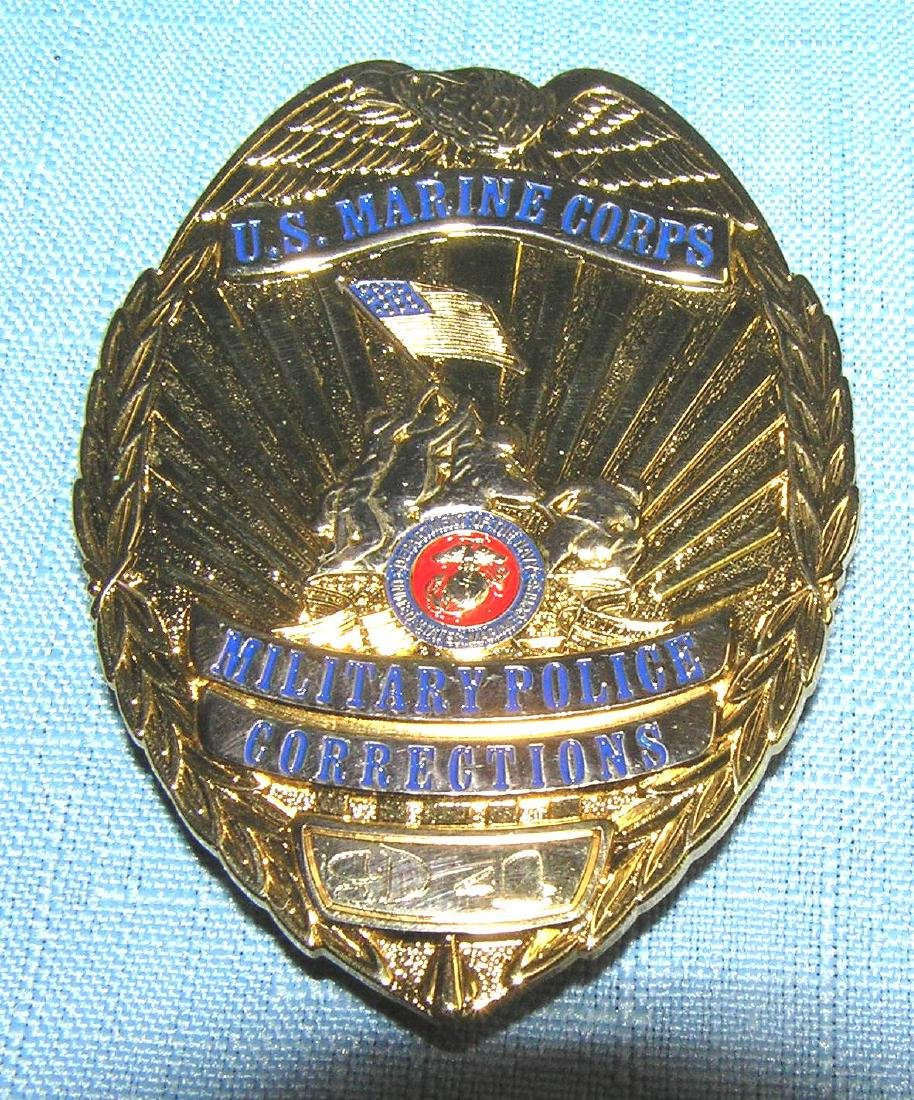 US Marine Corp military police and correctional badge