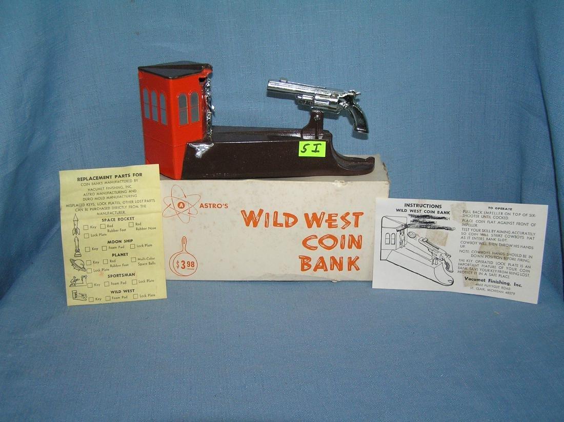 Vintage Wild West bank circa 1950's