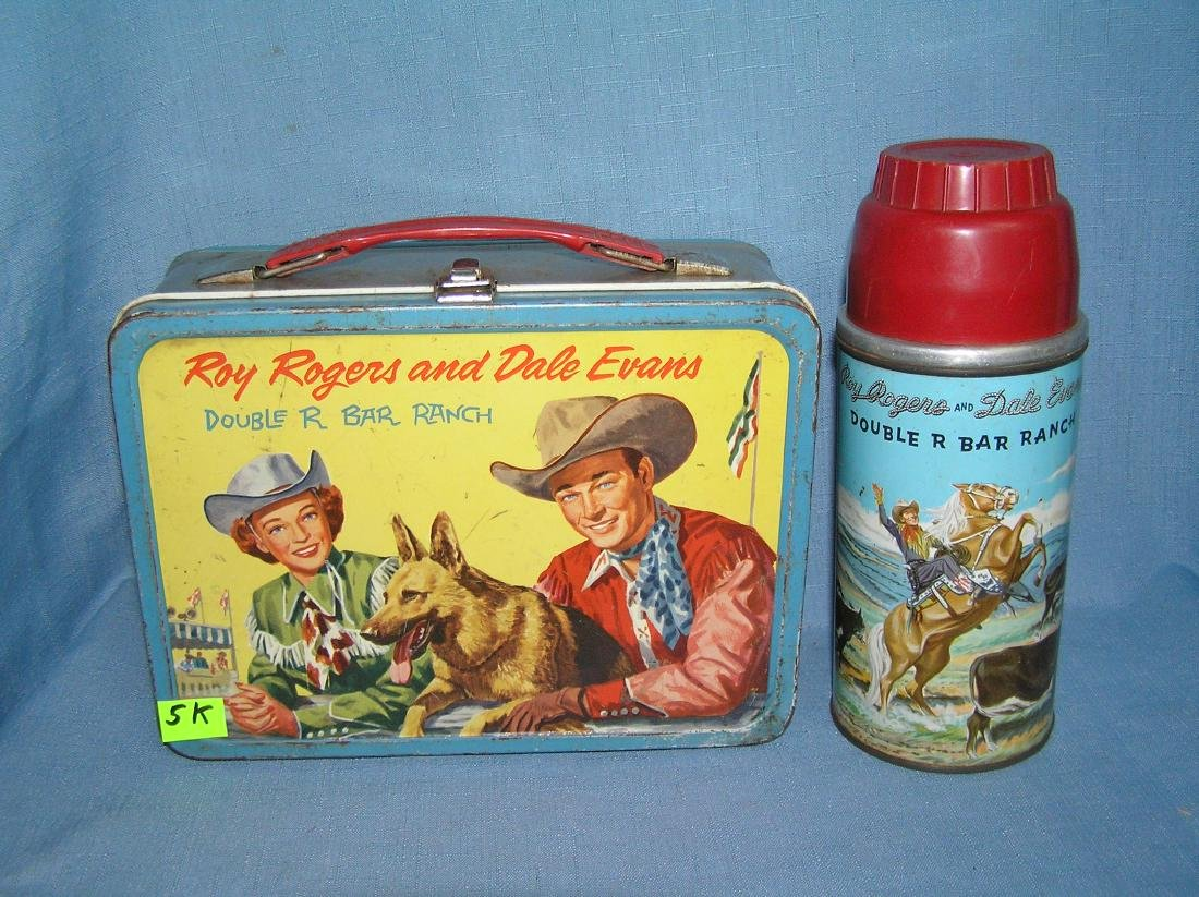 Early Roy Rogers lunch box and thermos