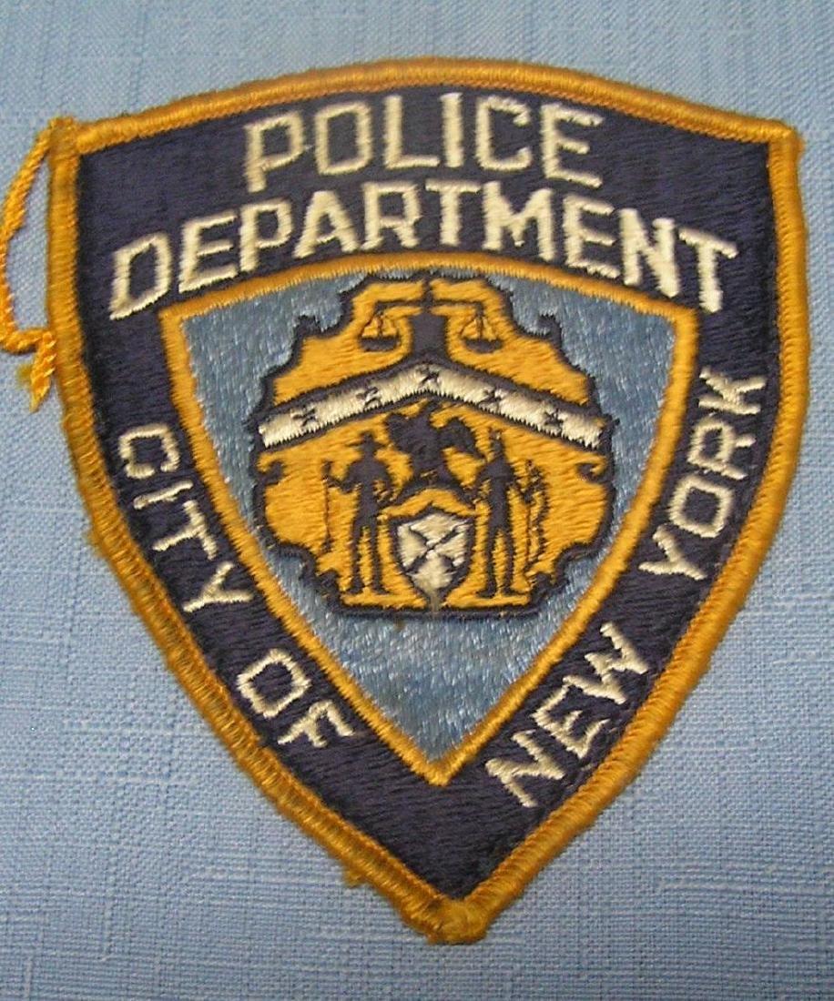 Early NY City police dept patch