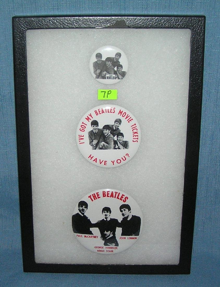 Group of the Beatles pictural pin back buttons