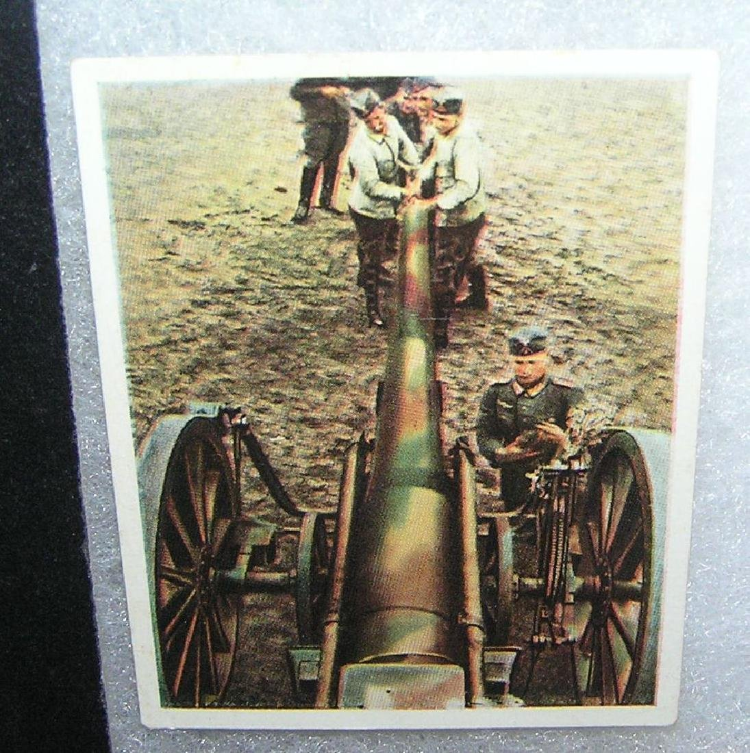Collection of WWII themed cigarette cards
