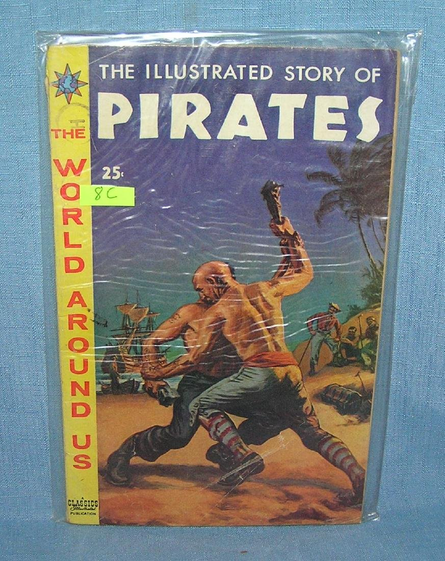 Early illustrated story of pirates comic book