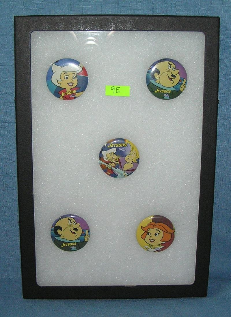 The Jetsons character pin back buttons