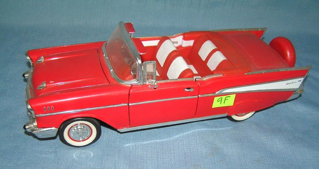 All cast metal 57 Chevy Belair convertible