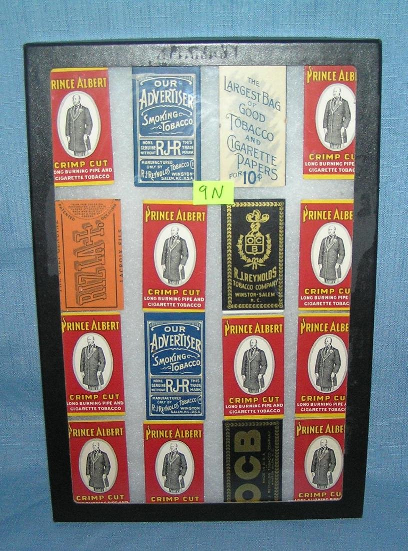 Collection of tobacco advertising rolling paper packets