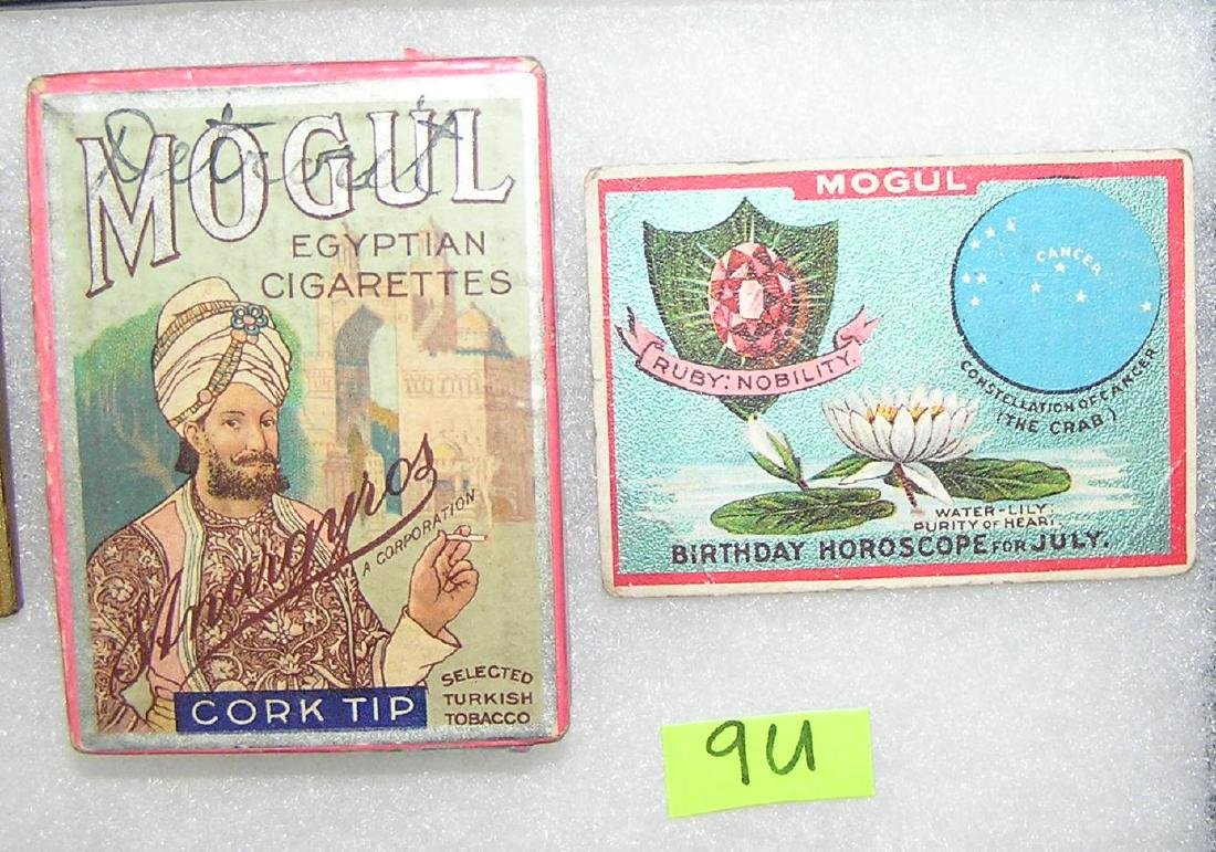 Mogul Egyptian cigarettes with cigarette card